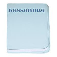 Kassandra Blue Glass baby blanket