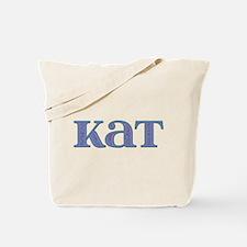 Kat Blue Glass Tote Bag