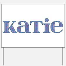 Katie Blue Glass Yard Sign
