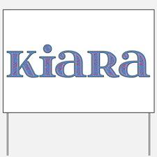 Kiara Blue Glass Yard Sign