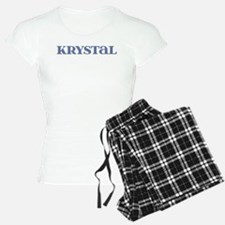 Krystal Blue Glass Pajamas