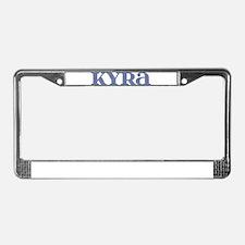 Kyra Blue Glass License Plate Frame