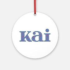 Kai Blue Glass Round Ornament