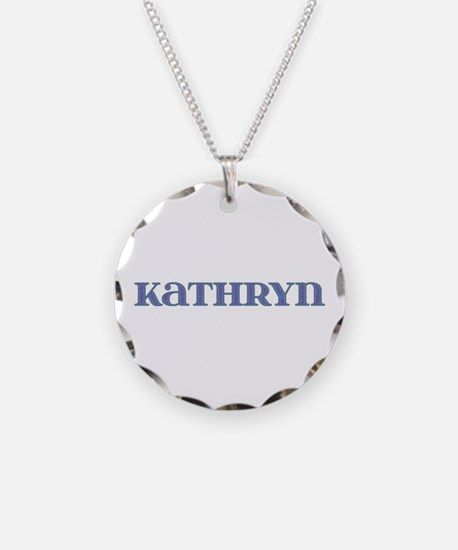 Kathryn Blue Glass Necklace
