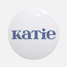 Katie Blue Glass Round Ornament