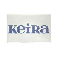 Keira Blue Glass Rectangle Magnet