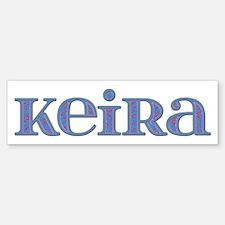 Keira Blue Glass Bumper Bumper Bumper Sticker