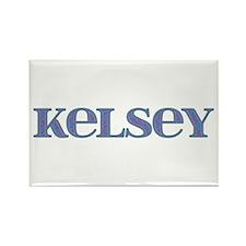 Kelsey Blue Glass Rectangle Magnet