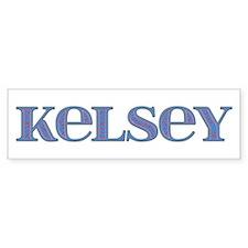 Kelsey Blue Glass Bumper Bumper Sticker