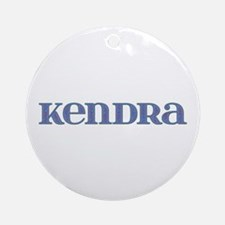 Kendra Blue Glass Round Ornament