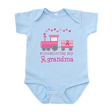 Pink Ribbon Remembering Grandma Infant Bodysuit