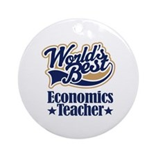 Economics Teacher Gift Ornament (Round)