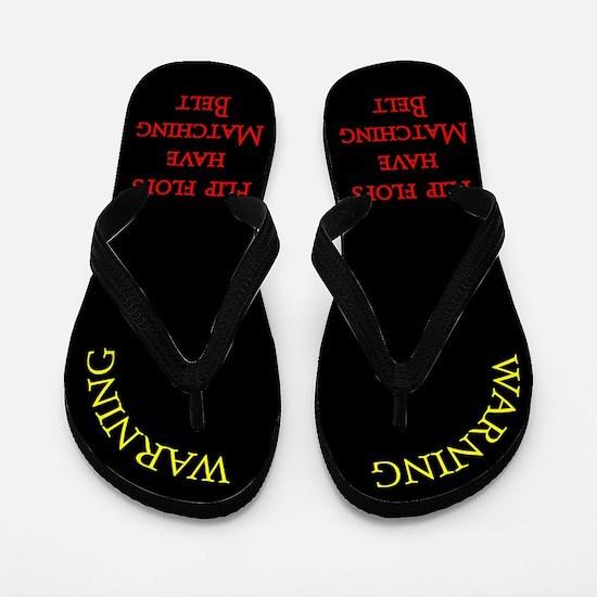 Matching Belt Flip Flops