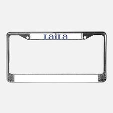 Laila Blue Glass License Plate Frame