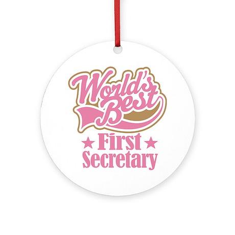 First Secretary Gift Ornament (Round)