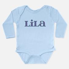 Lila Blue Glass Long Sleeve Infant Bodysuit
