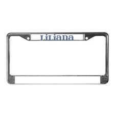 Liliana Blue Glass License Plate Frame