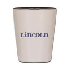 Lincoln Blue Glass Shot Glass
