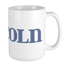Lincoln Blue Glass Mug