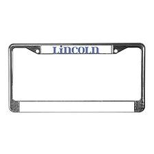 Lincoln Blue Glass License Plate Frame