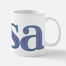 Lisa Blue Glass Mug