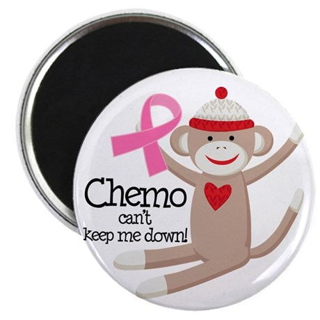 Breast Cancer Chemo Sock Monkey Magnet