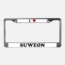 I Love Suweon License Plate Frame