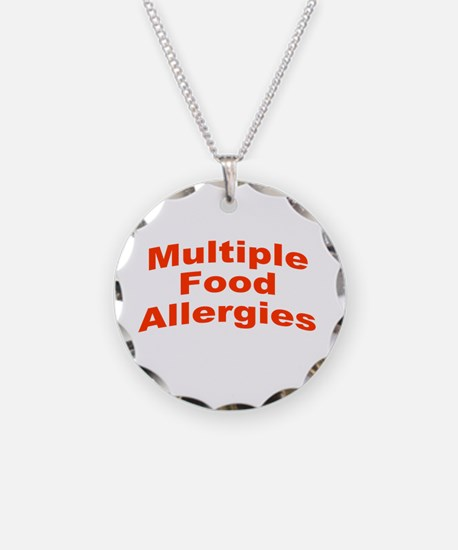 Multiple Food Allergies Necklace Circle Charm