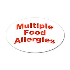Multiple Food Allergies 22x14 Oval Wall Peel