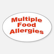 Multiple Food Allergies Decal