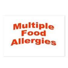 Multiple Food Allergies Postcards (Package of 8)