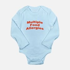 Multiple Food Allergies Long Sleeve Infant Bodysui