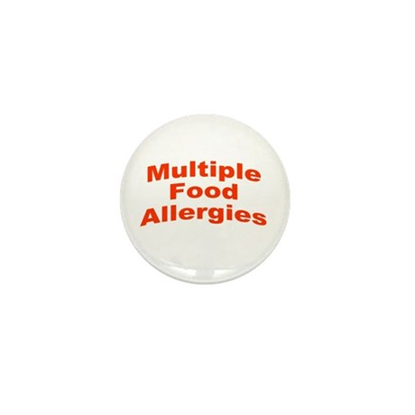 Multiple Food Allergies Mini Button (10 pack)