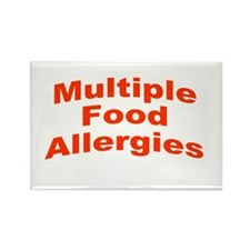 Multiple Food Allergies Rectangle Magnet