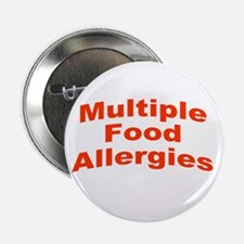 """Multiple Food Allergies 2.25"""" Button"""