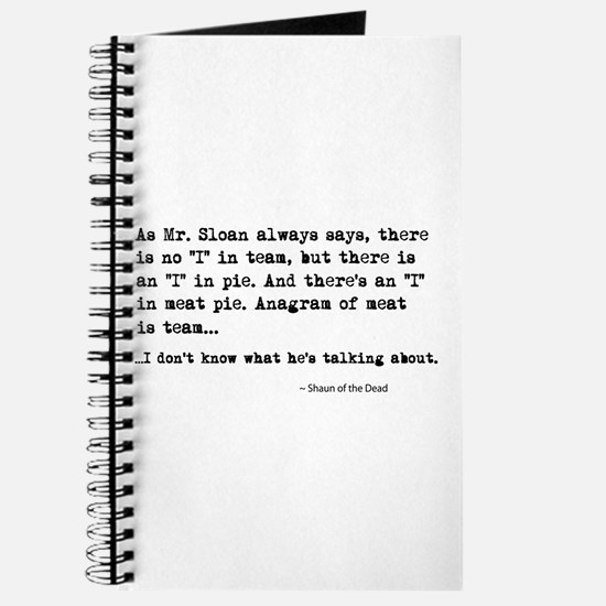 'Shaun of the Dead Quote' Journal