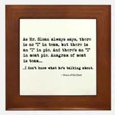 'Shaun of the Dead Quote' Framed Tile