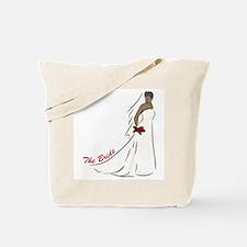 African American Bride Tote Bag