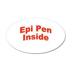 Epi Pen Inside 22x14 Oval Wall Peel