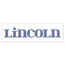 Lincoln Blue Glass Bumper Bumper Sticker