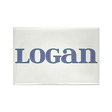 Logan Blue Glass Rectangle Magnet