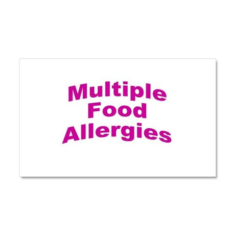 Multiple Food Allergies Car Magnet 20 x 12