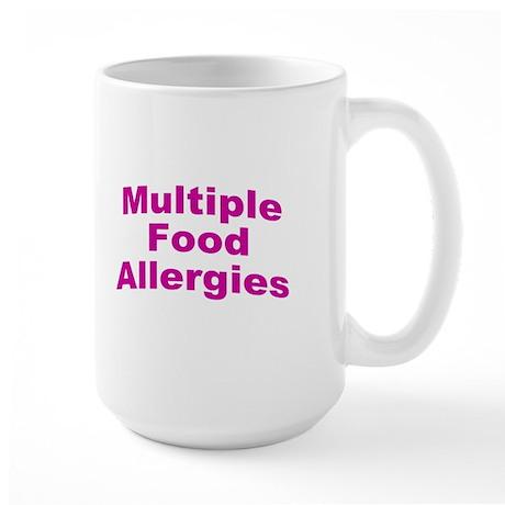 Multiple Food Allergies Large Mug