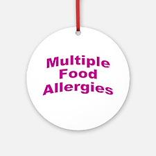 Multiple Food Allergies Ornament (Round)