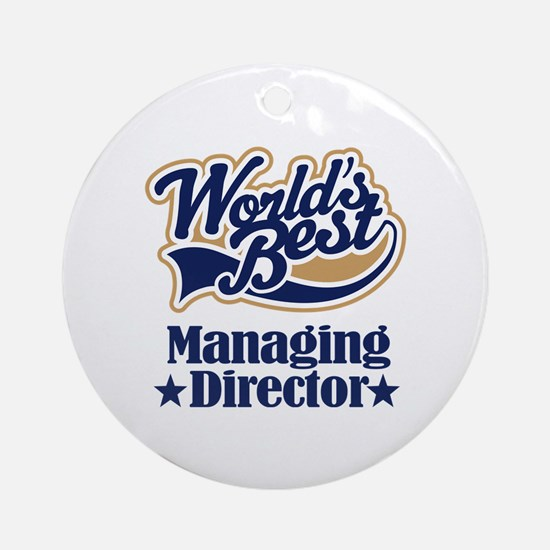 Managing Director Gift Ornament (Round)