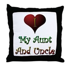 Aunt and Uncle Love Me Throw Pillow