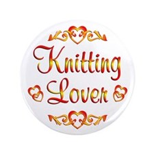 """Knitting Lover 3.5"""" Button"""