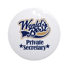 Private Secretary Gift Ornament (Round)