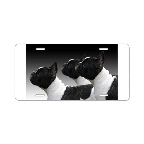 French Bulldogs Aluminum License Plate