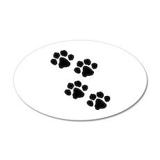 Pet Paw Prints Wall Sticker